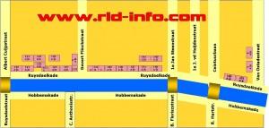 Printable RLD-map De Pijp district by www.RLD-info.com